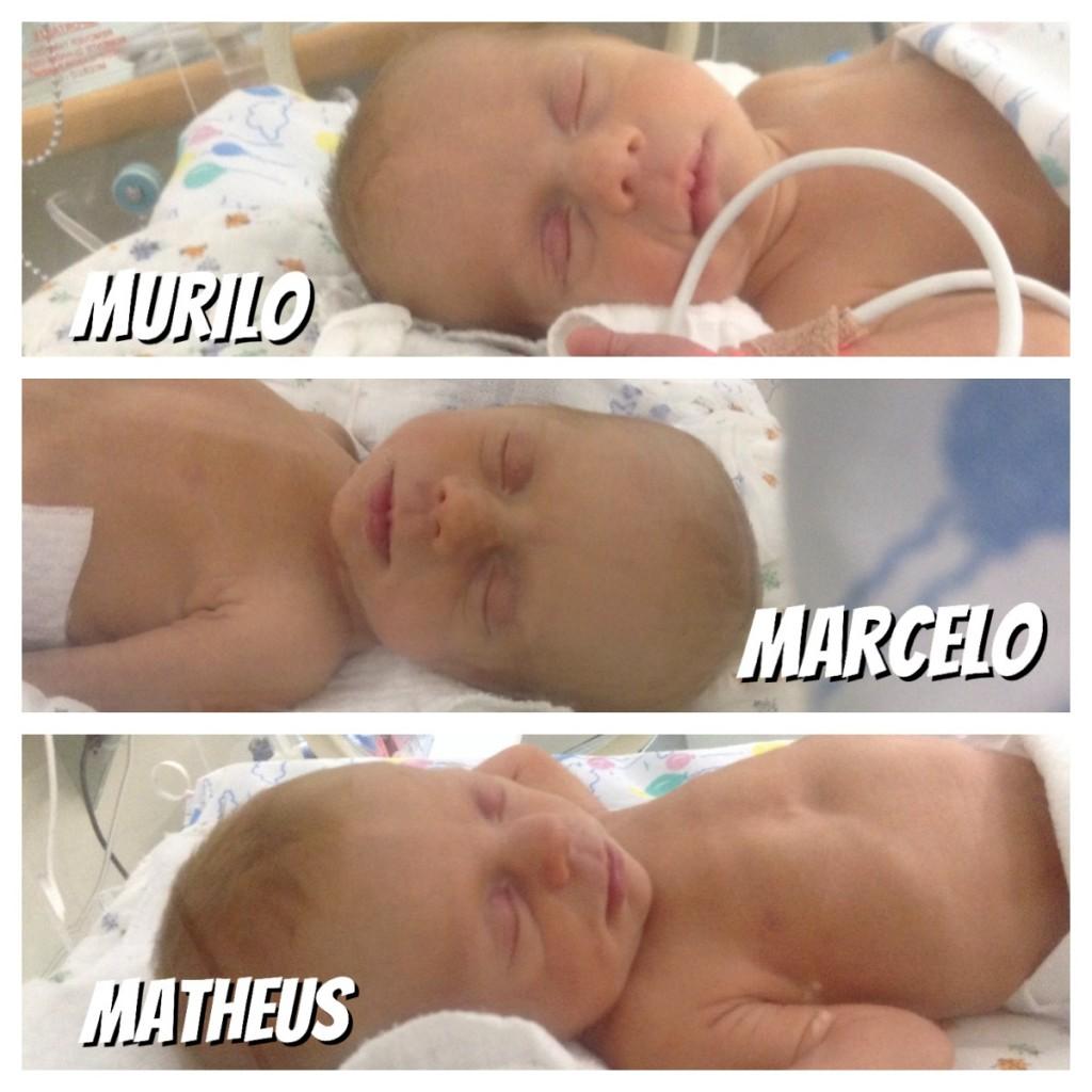 dias de uti neonatal com trigêmeos