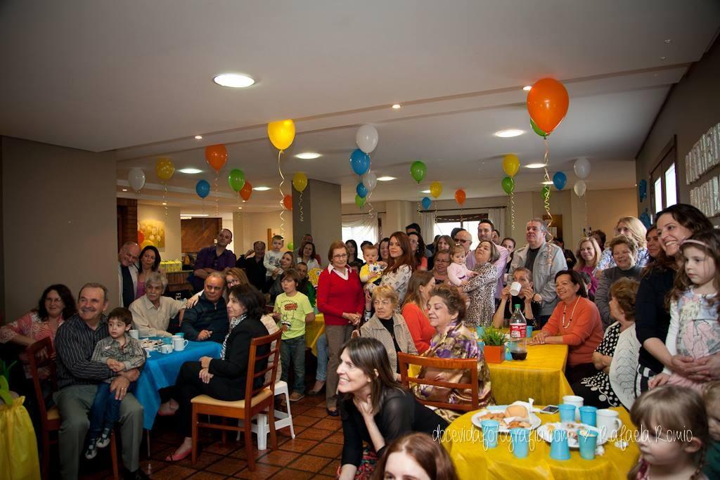 festa de um ano dos trigêmeos
