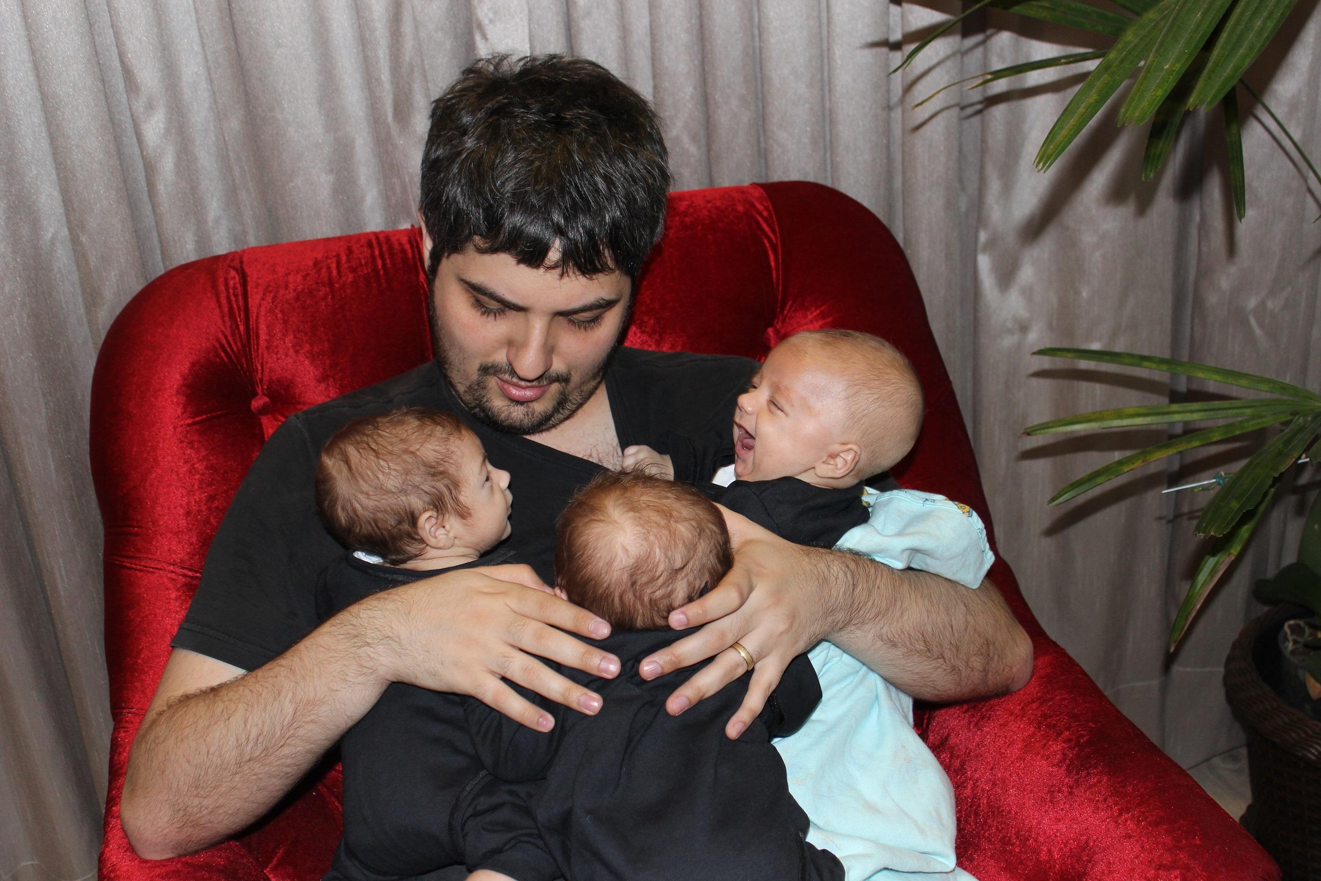 Papai e os três