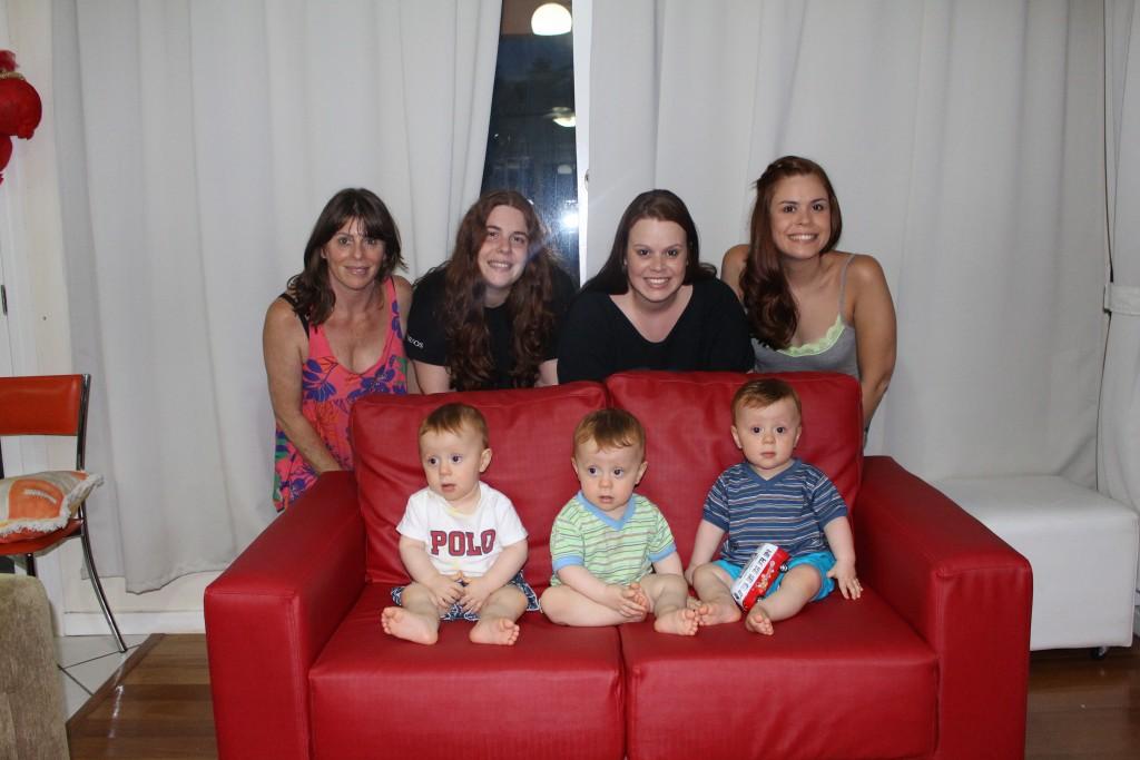família de ruivos