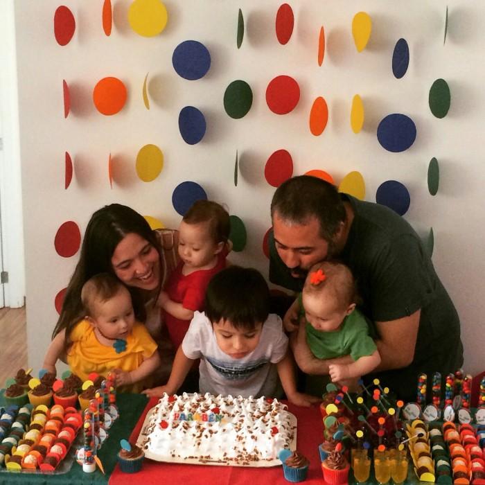 festas de aniversário de múltiplos
