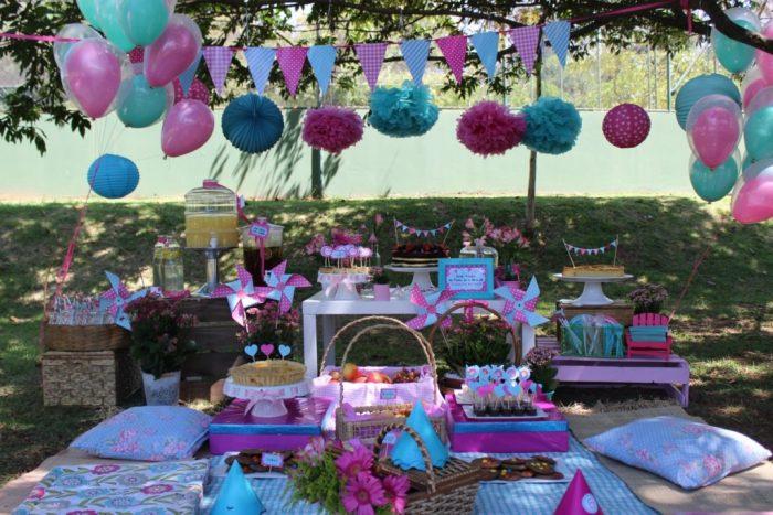 Inspirações para o aniversário dos trigêmeos festa piquenique