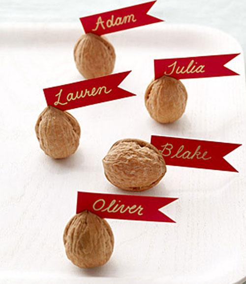 marcador de mesa para o Natal