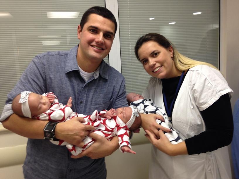 trigêmeos da Fabiana - recém-nascidos
