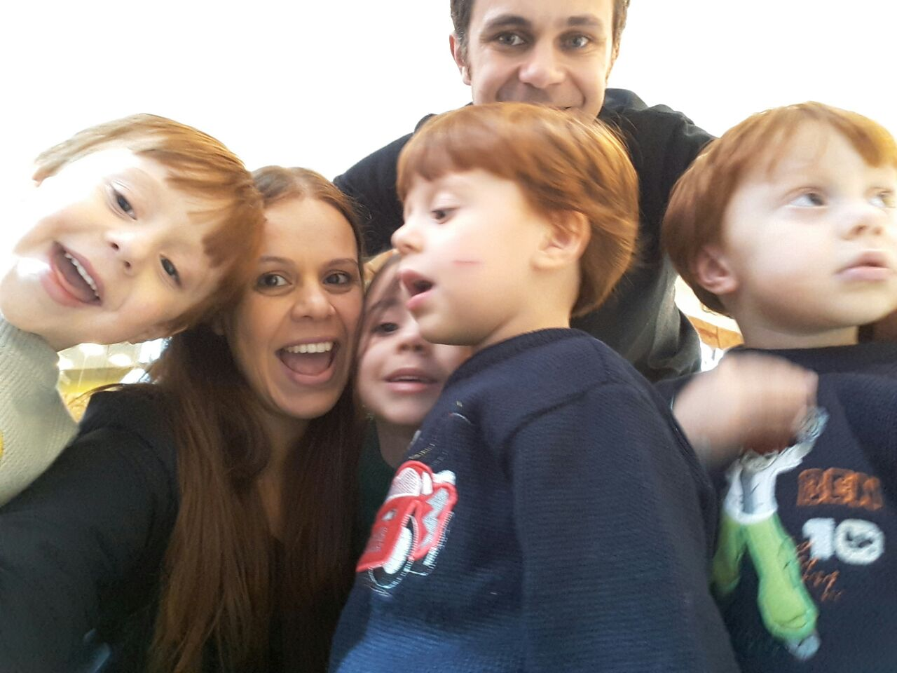 passear com quatro filhos